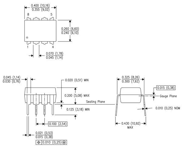 Sơ đồ kích thước 2D LM741